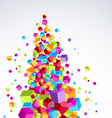 Colorful bright cubes stream form a tree-like vector image