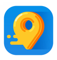 icon for mobile app pin navigation vector image