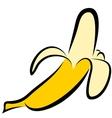 icon of banana vector image