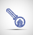 Logo key from the door vector image