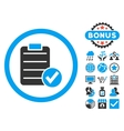 Apply Form Flat Icon with Bonus vector image