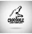 Crocodile logo template for sport teams vector image