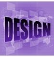 words design on digital screen information vector image