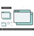 Copy tab line icon vector image