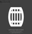 barrel premium icon white on dark background vector image