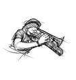 trumpetist vector image