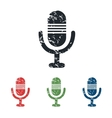 Microphone grunge icon set vector image