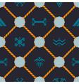 Seamless background with Touareg tattoo symbols vector image