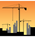 large construction site vector image vector image