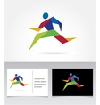 Running marathon people run colorful icon vector image vector image