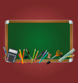 Class board on the red background vector image