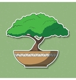 colorful paper bonsai tree vector image
