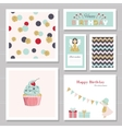 Cute cards with gold confetti glitter for girls vector image