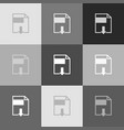 file download sign grayscale version of vector image