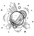 doodle pop cricket vector image vector image