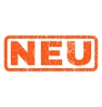 Neu Rubber Stamp vector image