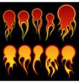 fireballs vector image vector image