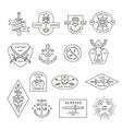 Vintage outline emblem and label design vector image
