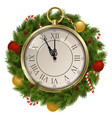 New Year Concept with Clock vector image