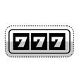 Casino slots machine icon vector image