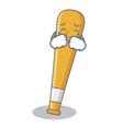 crying baseball bat character cartoon vector image