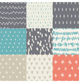 Handdrawn Pattern Set vector image