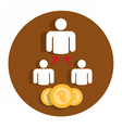 Icon flat affiliate program vector image