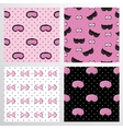 Pattern Set Of Sleep Accessories vector image