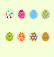 set of colorful and bright easter eggs flat vector image