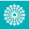 White paper sowflake Christmas collection vector image