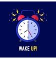 Alarm clock is ringing waking somebody up vector image