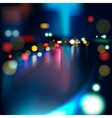 Blurred Defocused Lights of Heavy Traffic on a Wet Vector Image