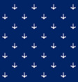 white anchor on blue background seamless pattern vector image