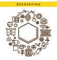 beekeeping line icon label emblem vector image