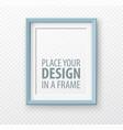 vertical frame mock up on transparence background vector image