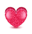 big pink heart isolated on white vector image