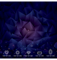 Geometric Dark Background vector image vector image