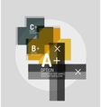 Color geometric shapes composition for option vector image vector image