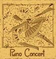 Invitation to piano concert vector image