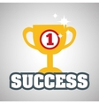 Flat about success design business vector image