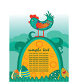 easter background with hen vector image vector image