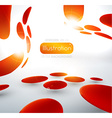 Abstract Red Spotted Backdrop vector image