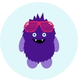Cartoon cute monster alien vector image