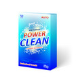 detergent powder packaging box design product vector image