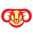 golden horned mountain ram vector image