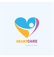 HealthcareMedical symbol with heart shape vector image