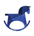 horse toy icon Abstract Triangle vector image
