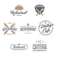 restaurant logos badges and labels design vector image