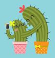 Selfie Cactus vector image