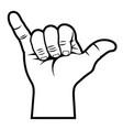 shaka hand sign 001 vector image